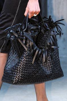 Leather feels feathery on the Bottega Veneta Spring 2013 runway