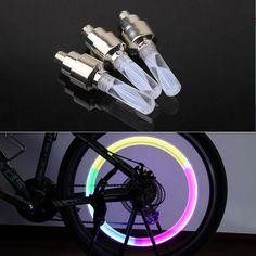 bike lights mtb mountain road bike bicycle lights LEDS Tyre Tire Valve Caps Wheel spokes LED Light 7color auto lamp lamps BL07 #Affiliate