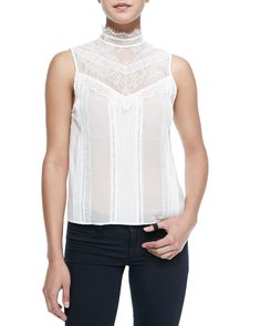 Harlow Victorian-Inspired Sleeveless Blouse