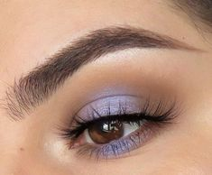 taupe crease pop of periwinkle blue lilac purple in centre of lid Blue Eyeshadow For Brown Eyes Blue centre crease lid lilac periwinkle pop purple taupe Blue Eyeshadow For Brown Eyes, Purple Eyeshadow Looks, Prom Makeup For Brown Eyes, Brown Eyes Pop, Purple Eye Makeup, Makeup Eye Looks, Colorful Eye Makeup, Eye Makeup Art, Skin Makeup
