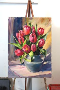Vincent Van Gogh – Buy Abstract Art Right Tulip Painting, Oil Painting Flowers, Watercolor Flowers, Painting & Drawing, Watercolor Paintings, Acrylic Paintings, Mini Canvas Art, Arte Floral, Pastel Art
