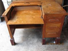Antique typewriter desk