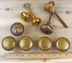 Brass Door Knobs - Restoration - Vintage Door Knobs  #2-5 by RusticSpoonful on Etsy