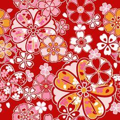 「桜文様」の解説と壁紙・背景用のパターンGIF素材-粋屋 日本の伝統文様と伝統色-