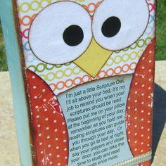 So cute! Scripture owl