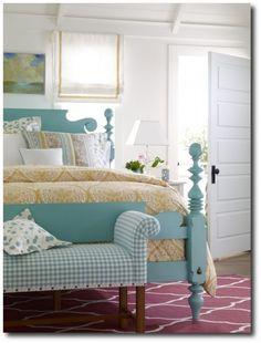 Beautiful turquoise bed / bedroom (Ethan Allen)