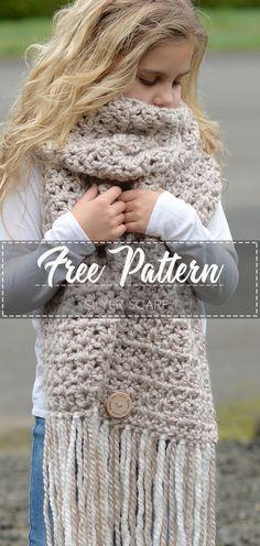 Silyer Scarf – Free Pattern #crochetpattern #crochet #freecrochetpattern #crochetamd #crochetlove #diy #tutorialcrochet #videocrochet #pattern