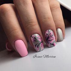 Fails diy pink summer 2015 Ideas for 2019 Floral Nail Art, Pink Nail Art, New Nail Art, Pink Nails, Gel Nails, Acrylic Nails, Pretty Nail Designs, Pretty Nail Art, Beautiful Nail Art
