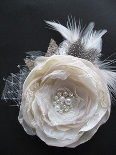 Hair piece!  -I wish it was 'socially acceptable' to re-new my wedding vows and have a big doings every 5 years or so...there's so many cute ideas I would want to do!!