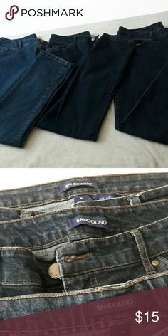 Jeans (BANDOLINO) Lot of 3 This lot of 3 are Bandolino jeans. They are in great condition. They measure 28 inches from crotch to bottom. Bandolino Jeans Straight Leg