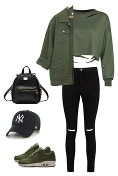 """""""Like💛"""" by mallaauryrochaa on Polyvore featuring WithChic, Boohoo, NIKE and '47 Brand"""