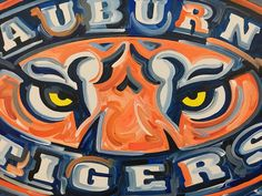 24x30 Officially Licensed Auburn University Painting Justin Patten Art College Football Basketball War Eagle Aubie Iron Bowl Tiger Walk by stormstriker on Etsy https://www.etsy.com/listing/488364405/24x30-officially-licensed-auburn