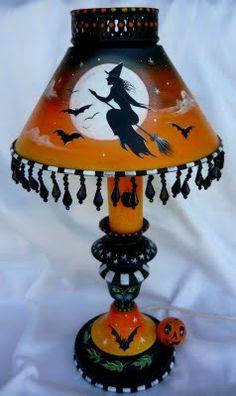 MAGIC BRUSH STUDIO: Original HP Vintage Metal Halloween Lamp~on e-Bay now~  http://magicbrushstudio.blogspot.com/2011/05/original-hp-vintage-metal-halloween.html