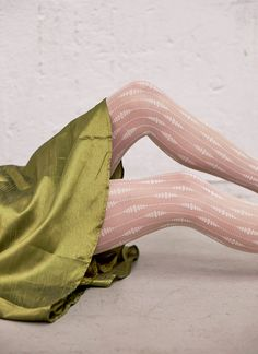 Josefin Drop Tights Green Tights, Lace Tights, Opaque Tights, White Tights, Drops Patterns, Recycled Yarn, Patterned Tights, Stocking Tights, Fashion Tights