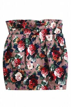 Check out and shop this Oasap Vintage Rose Print Bust Skirt at  http://rstyle.me/~kOx8