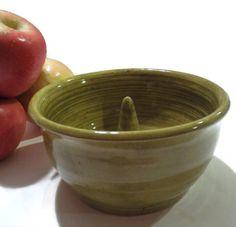 Apple baker, Olive Green, kitchen, bakeware, serving, ovenware,Ceramic Stoneware #bestofEtsy #pottery