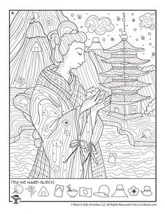 Puzzles For Kids, Activities For Kids, English Lessons For Kids, French Lessons, Find The Hidden Objects, Coloring Books, Coloring Pages, Hidden Picture Puzzles, Visual Memory