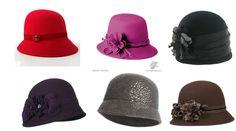 (Podria usarlos todos)  Sombreros tipo Cloche