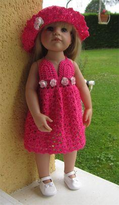 90- FICHE PATRON Tenue Reine des fleurs au crochet pour poupée Hannah de Götz : Jeux, jouets par atelier-crochet