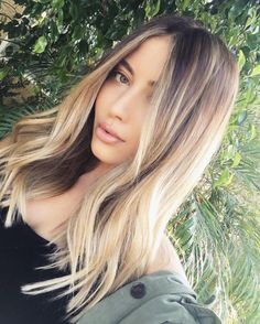 See this Instagram photo by @suzysogoyan • rooted blonde hair lob - balayage