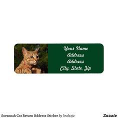 Savannah Cat Return Address Sticker