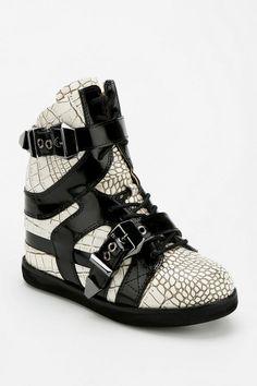 Jeffrey Campbell Iverson Croc Hidden Wedge High-Top Sneaker - Urban Outfitters