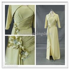 Wholesale 2013 Sheath/Column Beads Fold High Collar Satin Mother of the Bride dress, Free shipping, $118.72-134.4/Piece | DHgate