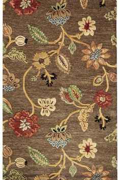 The Portico Rug - Floral Rugs - Wool Rugs - Rugs   HomeDecorators.com