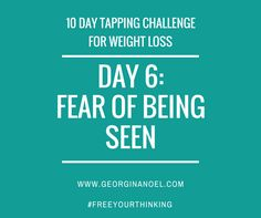 10 days of EFT Tapping scripts/videos, mindset experiments & nutrition tips to help shift your limiting beliefs around weight loss!  http://www.georginanoel.com/10-day-tapping-challenge-weight-loss/