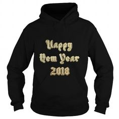 Happy New Year 2018 Heavy Metal Gold Letter Party T-Shirt LIMITED TIME ONLY. ORDER NOW if you like, Item Not Sold Anywhere Else. Amazing for you or gift for your family members and your friends. Thank you! #2018 #year #dog #pets