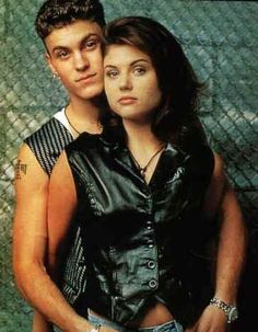 Brian Austin Green as David Silver and Tiffani Thiessen as Valerie Malone in Beverly Hills,90210 (1994)