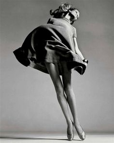 #photography Veruschka. Dress by Bill Blass, New York studio, January 1967. Shot by Richard Avedon.