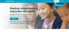 This website provides resources to improve students' reading comprehension. It includes reading passages, question sets, vocabulary, daily articles, paired texts, StepReads, lesson plans and units, eBooks and student tools.