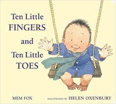 Amazon.com: Ten Little Fingers and Ten Little Toes padded board book (9780547366203): Mem Fox, Helen Oxenbury: Books $9