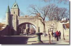 Quebec City -  Canada  -  Standing on rue Saint-Louis or Sainte Anne in Vieux Quebec, the old walled city of Quebec, it's easy to imagine that somehow you've arrived in France without having taken a plane or boat to get there.