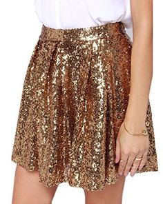 Cheers to You! Gold Sequin Skirt Possibly NYE skirt Gold Sequin Shorts, Sequin Skirt, Gold Sequins, Junior Cocktail Dresses, Pretty Outfits, Cute Outfits, Clubwear, Dress To Impress, Dress Skirt