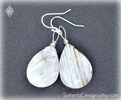 Quartz teardrop earrings crystal teardrop  by SumertaDesigns