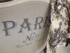 Chalk Paint™ stenciled on a chair back