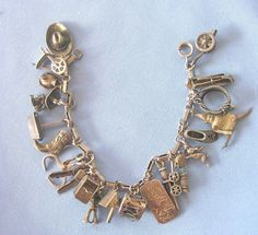 A collector's dream - all original charm bracelet from the 1930s   rubylane.com