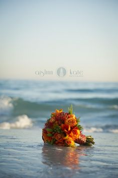 Modern Orange and White Styled Wedding Shoot  |  Aislinn Kate Photography  |  Fiesta Wedding  |  Destin  |  Orange bouquets