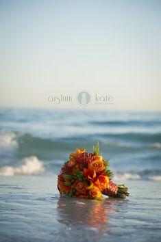 Modern Orange and White Styled Wedding Shoot | Aislinn Kate Photography | Fiesta Wedding | Destin | Orange bouquets