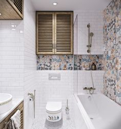 Banheiro decorado no estilo Provençal