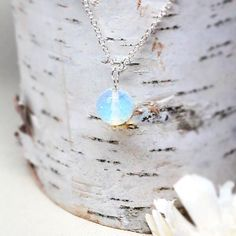 Moonstone Solitarie Necklace, One Gemstone Necklace,OOAK Gift for Her,Holiday Gift Guide Wedding Jewelry Translucent Semiprecious Birthstone