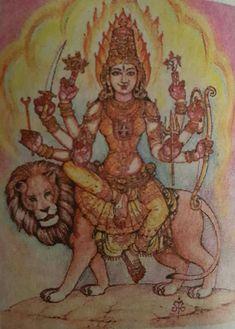 MAHADURGA 🙏 Durga Maa, Shiva Shakti, Durga Goddess, Indian Gods, Indian Art, Maa Wallpaper, Hindu Statues, Lord Shiva Painting, Divine Mother