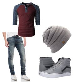"""Idek....."" by directionerluv-234 on Polyvore featuring William Rast, Vans, Coal, men's fashion and menswear"