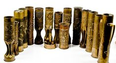 These trench art vases are from the WWI era, just like the ones that will be in the Berkshire Collects exhibit! #BerkshireCollects