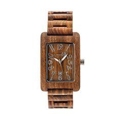 Earth Men's Trunk Wood Watch, Brown