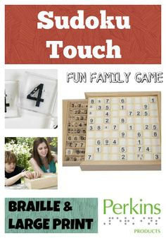 Family Fun: Everyone can play. The puzzles and number tiles feature both braille and large print. Siblings who are blind and sighted can play together for hours of fun.  ***  Visit pinterest.com/wonderbabyorg/  for more great fun activities for blind and visually impaired kids.