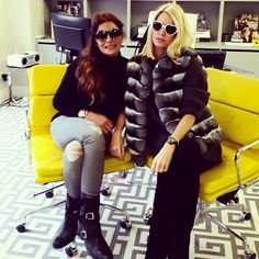 Caroline Stanbury.. Henry Holland sunglasses, Lilly e Violetta gilet, and Chanel boots..