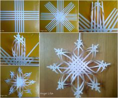 Paper Snowflake Ornament DIY Tutorial BeesDIYcom diy christmas crafts with paper - Diy Paper Crafts Diy Christmas Snowflakes, 3d Paper Snowflakes, Snowflake Craft, Christmas Paper Crafts, Noel Christmas, Holiday Crafts, Christmas Decorations, Christmas Ornaments, Snowflake Ornaments